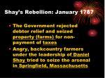 shay s rebellion january 1787