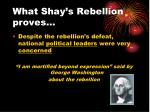 what shay s rebellion proves
