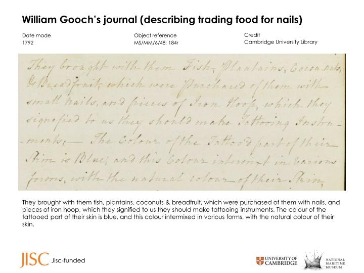 William Gooch's journal
