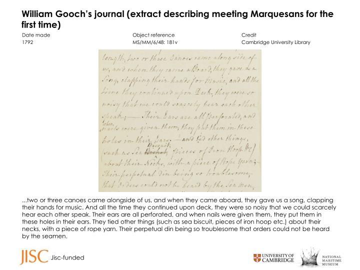 William Gooch's journal (