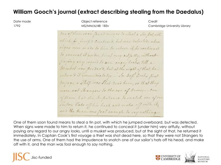 William Gooch's journal (