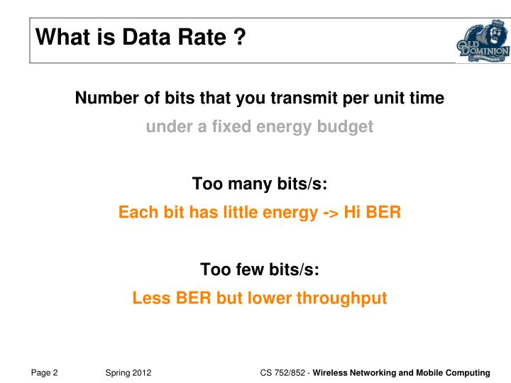 What is Data Rate ?