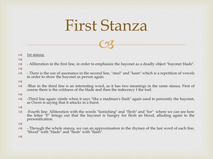First Stanza