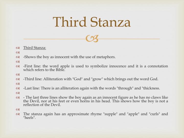 Third Stanza