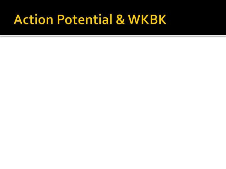 Action Potential & WKBK