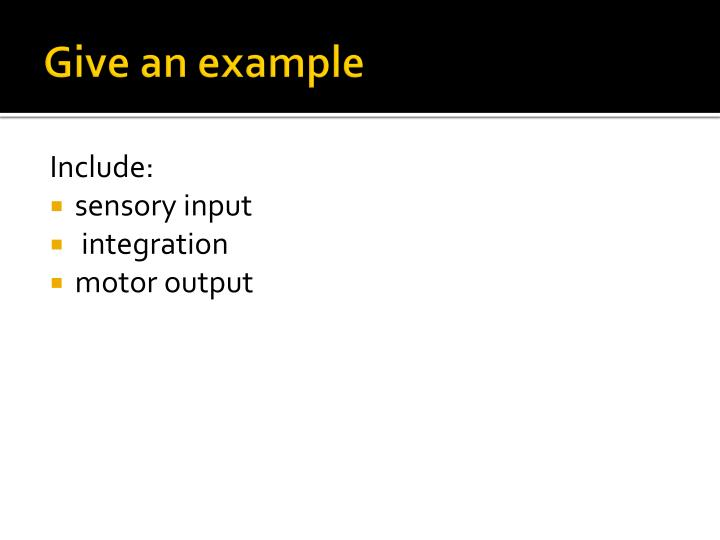 Give an example