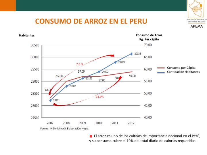 CONSUMO DE ARROZ EN EL PERU