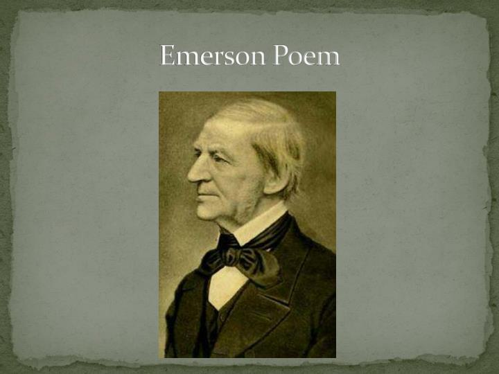 Emerson Poem