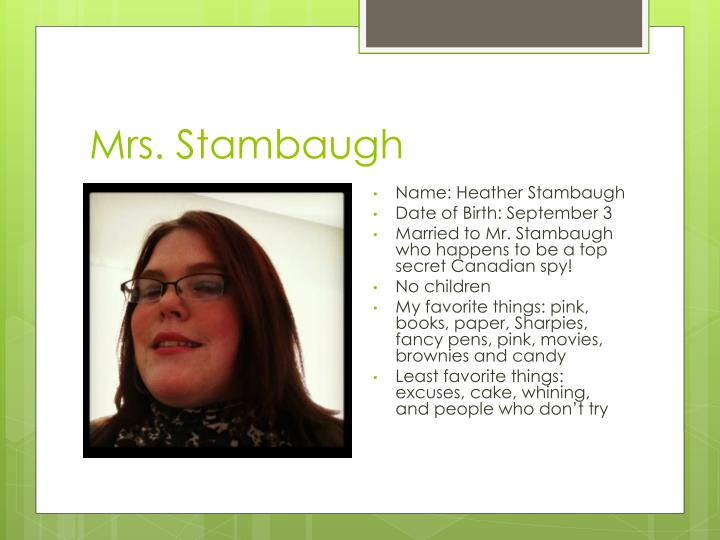 Mrs stambaugh