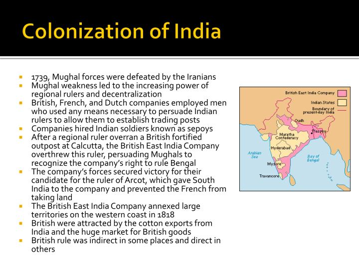Colonization of india