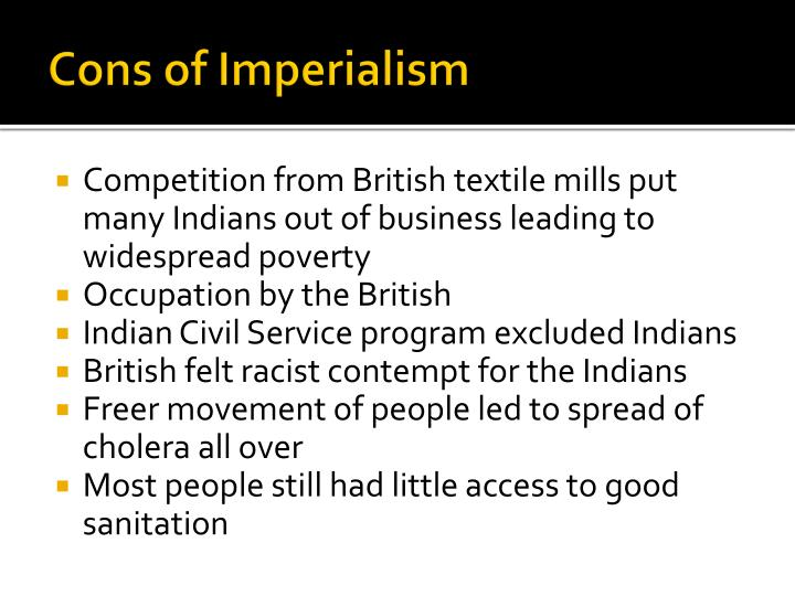 Cons of Imperialism