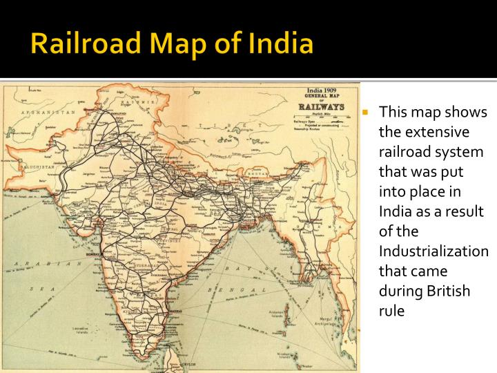 Railroad Map of India