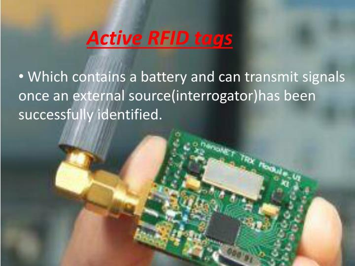 Active RFID tags