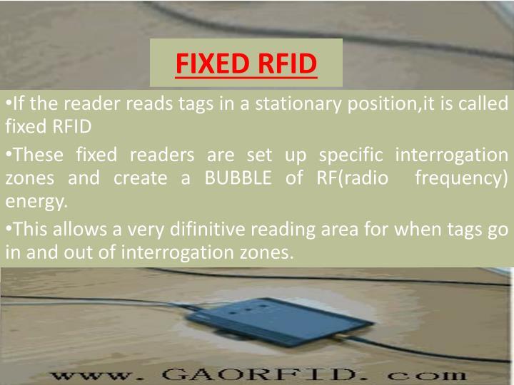 FIXED RFID