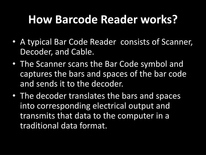 How Barcode Reader works?