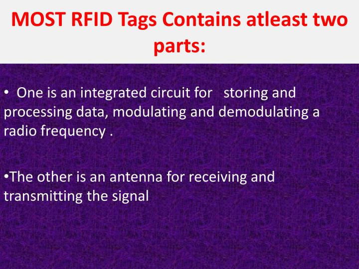 MOST RFID Tags Contains