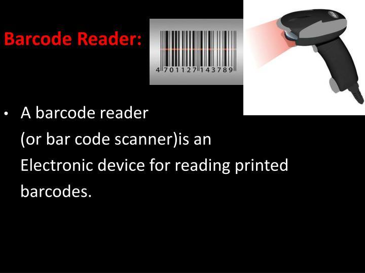 Barcode Reader: