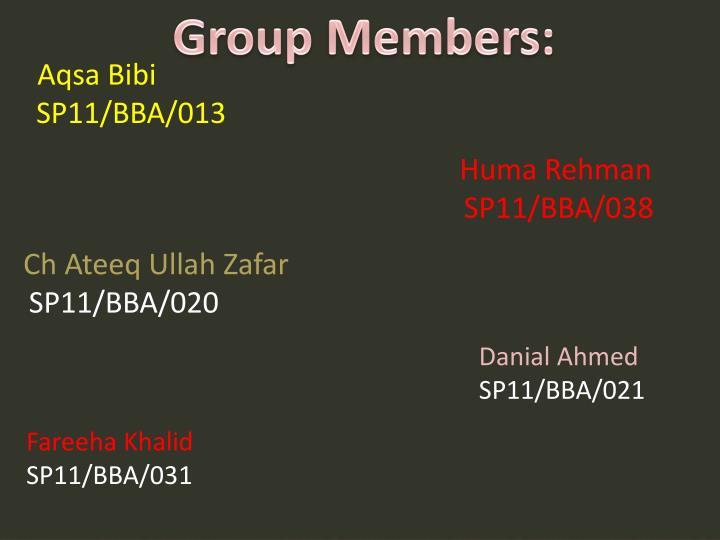 Group Members: