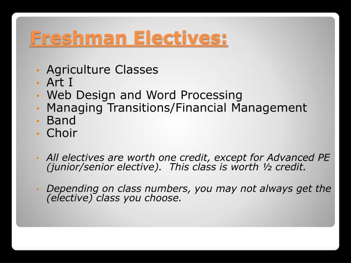 Agriculture Classes