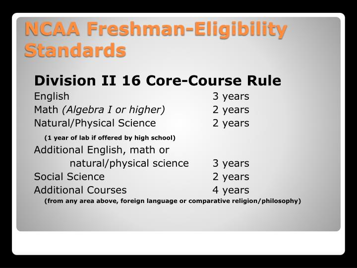 Division II 16 Core-Course Rule