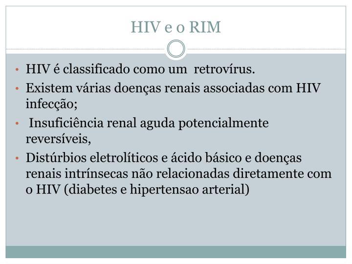 HIV e o RIM