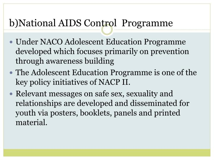 b)National AIDS Control