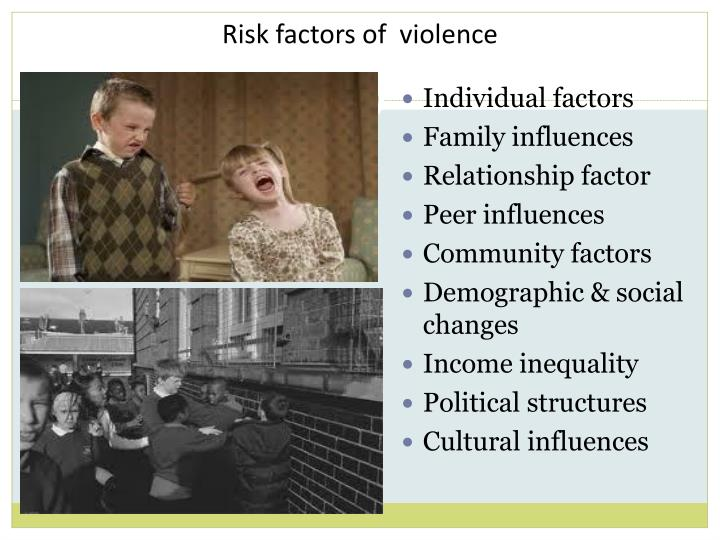 Risk factors of  violence