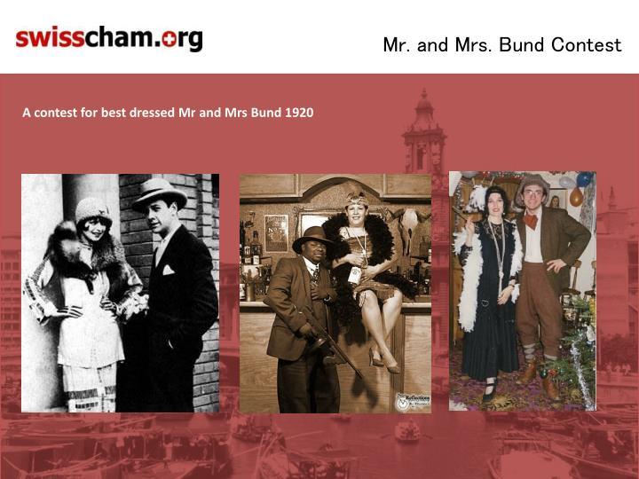 Mr. and Mrs. Bund Contest