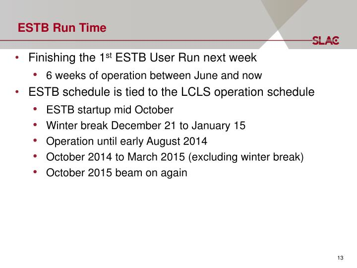 ESTB Run Time