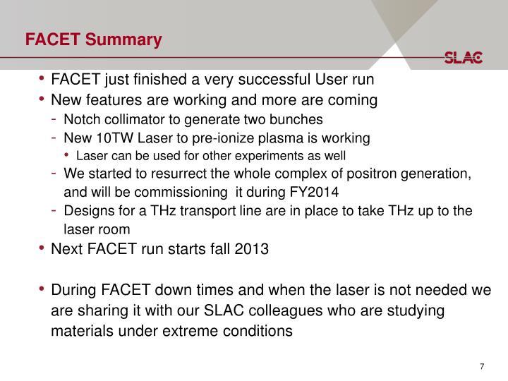 FACET Summary