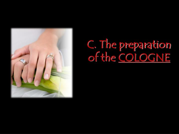C. The preparation of the