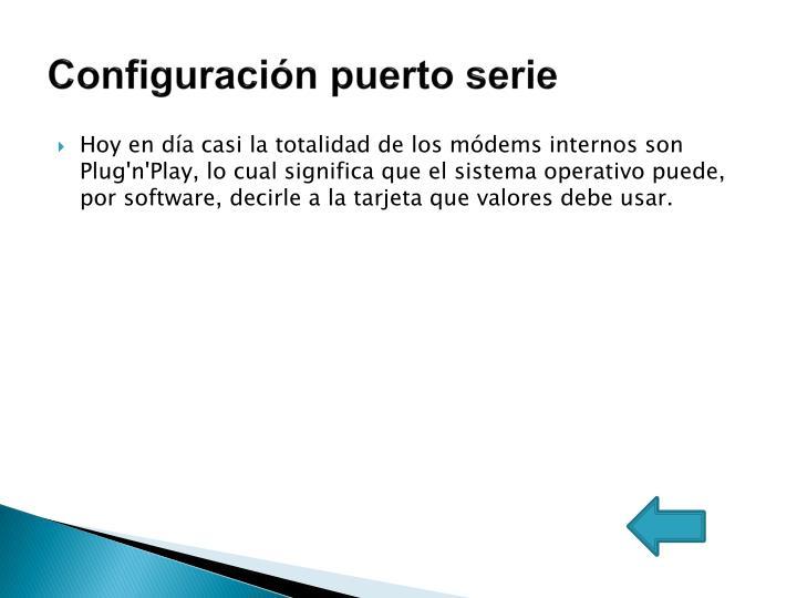 Configuración puerto serie