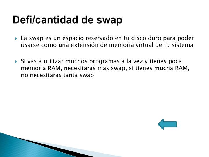 Defi/cantidad de swap