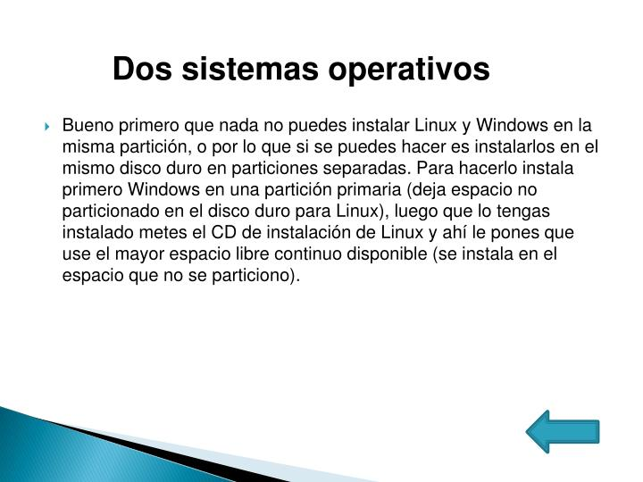 Dos sistemas operativos