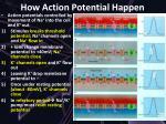 how action potential happen