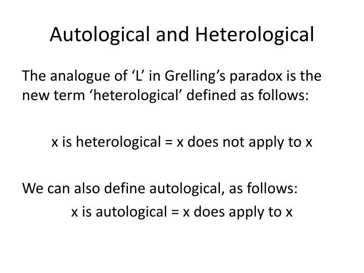 Autological