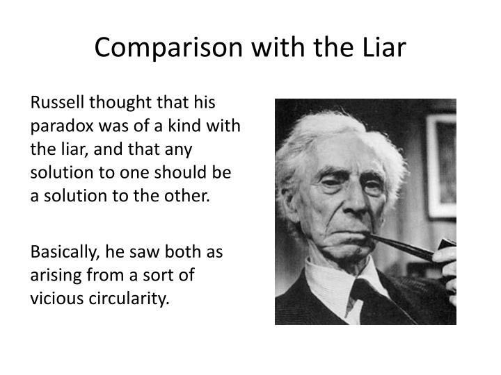 Comparison with the Liar