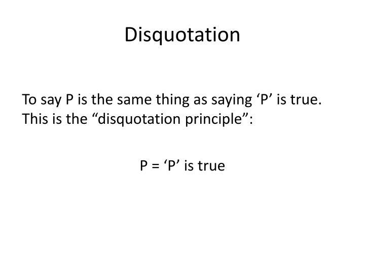 Disquotation
