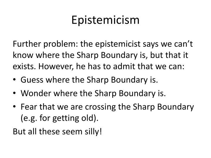Epistemicism