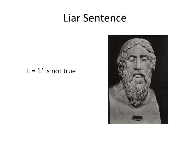Liar Sentence