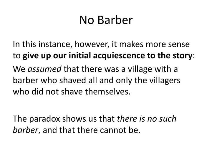No Barber