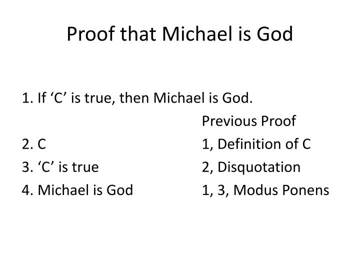 Proof that Michael is God
