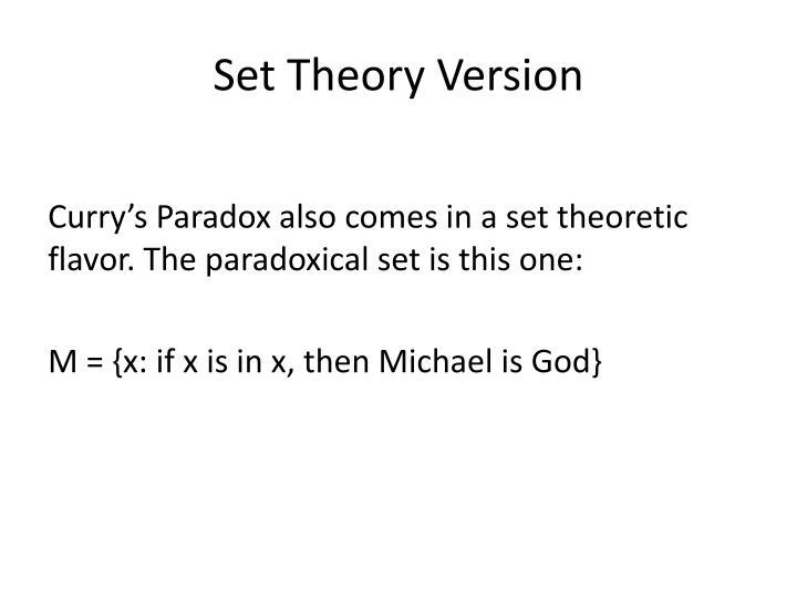 Set Theory Version