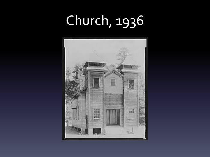 Church, 1936