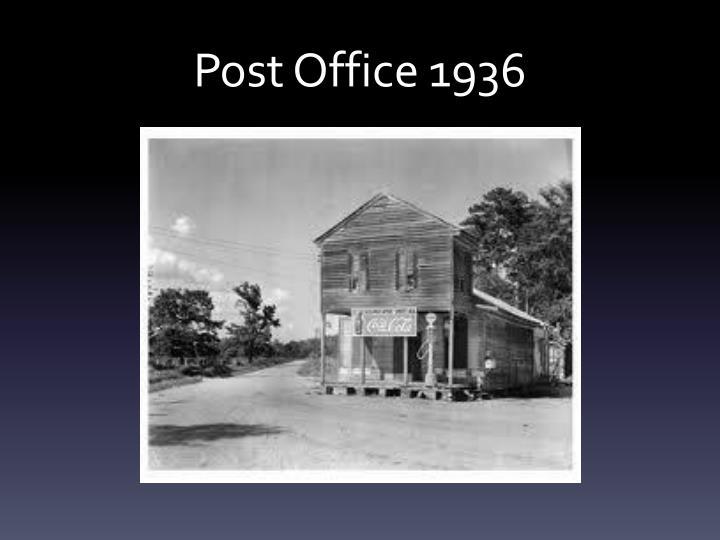 Post Office 1936