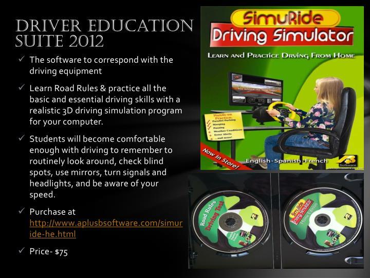 Driver Education Suite 2012