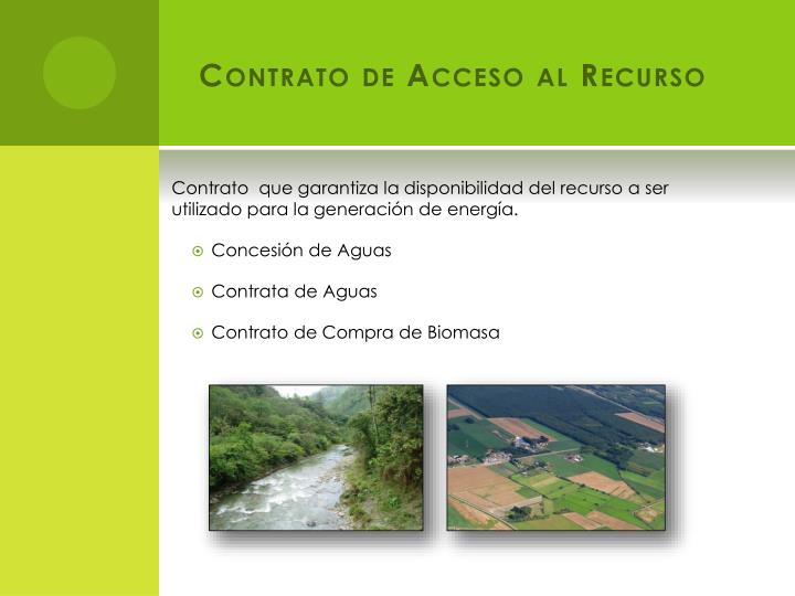 Contrato de Acceso al Recurso
