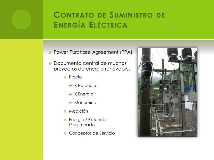 Contrato de Suministro de Energía Eléctrica