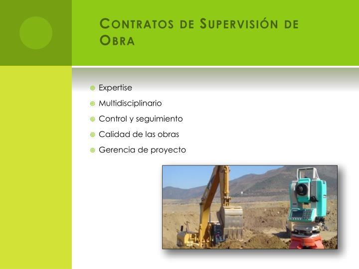 Contratos de Supervisión de Obra
