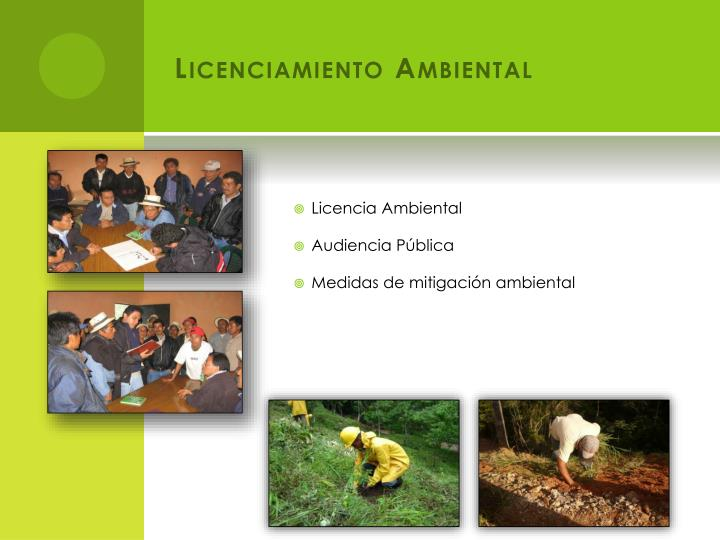 Licenciamiento Ambiental